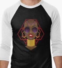 Dora Milaje: Move, or You Will Be Moved (version 2) Men's Baseball ¾ T-Shirt