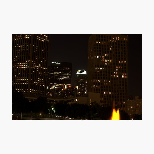 Downtown Los Angeles At Night HDR Photographic Print
