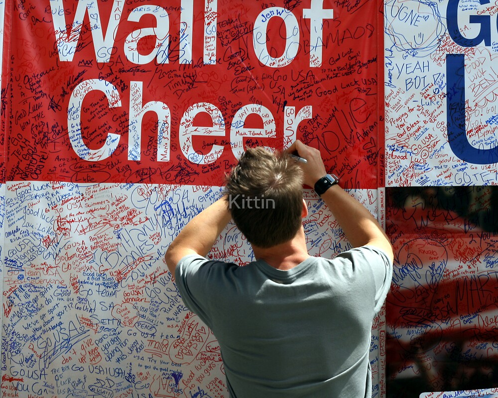 The Chicago Olympics Wall of Cheer by Kittin