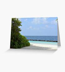 Beautiful beach in Maldives Greeting Card