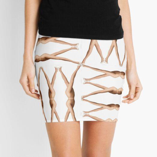 Pattern of dancing female legs Mini Skirt