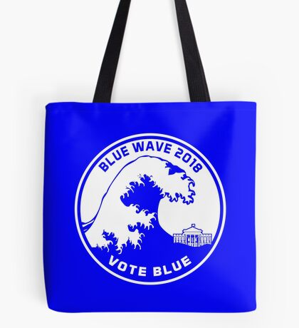 Blue Wave 2018 Vote Blue Tote Bag