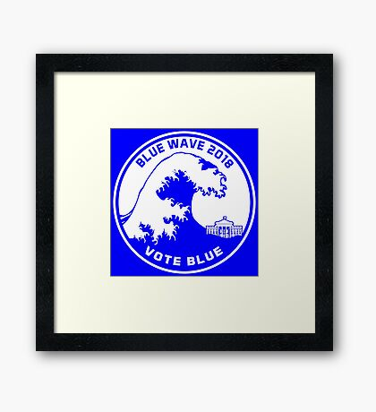 Blue Wave 2018 Vote Blue Framed Print