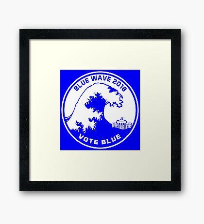 Blue Wave 2018 Vote Blue Framed Print
