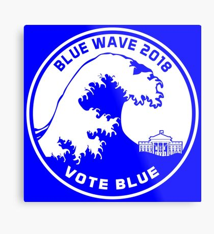 Blue Wave 2018 Vote Blue Metal Print