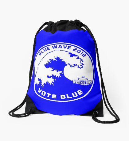 Blue Wave 2018 Vote Blue Drawstring Bag