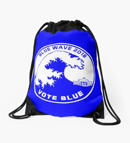 Blue Wave 2018 Vote Blue Drawstring Bag