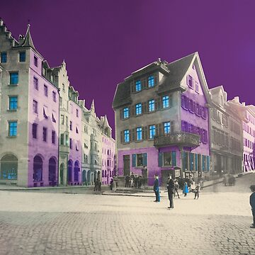 COLLAGE #Tuebingen vintage Lustnauer Tor house city Tübingen by Mauswohn