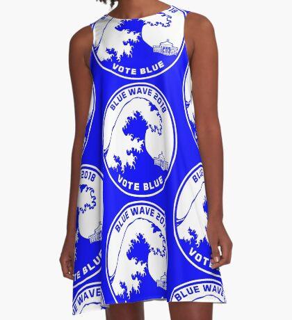 Blue Wave 2018 Vote Blue A-Line Dress