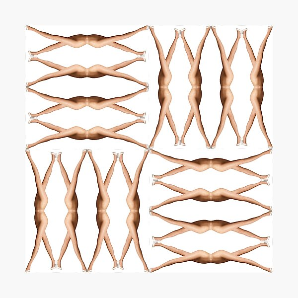 Pattern, design, tracery, weave, female legs Photographic Print