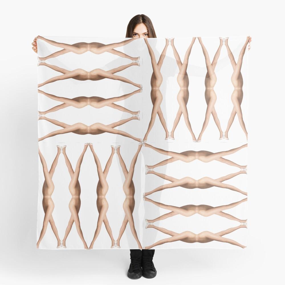 Pattern, design, tracery, weave, female legs Scarf
