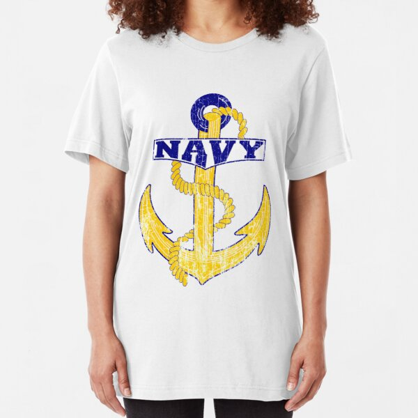 Vintage NAVY Anchor - Fathers Day Gift!  Slim Fit T-Shirt