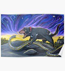Tiger Snake vs Tasmanian Devil Poster