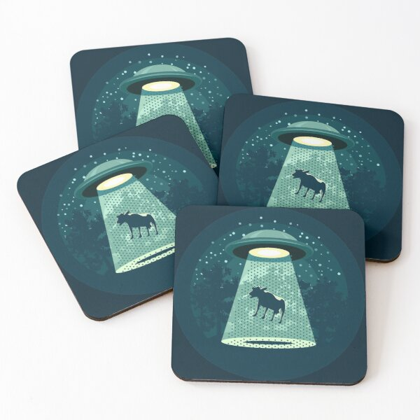 Beware UFO Coasters (Set of 4)