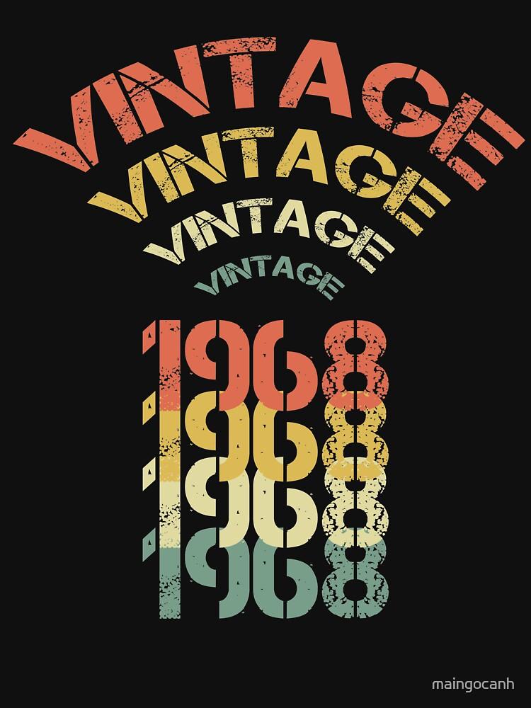 Birthday Gift For 50 Years Old. Retro 1968 T-Shirt. by maingocanh