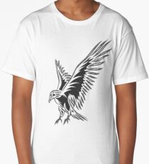 Flying Eagle, grey Long T-Shirt