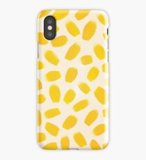 Yellow brush strokes iPhone Case