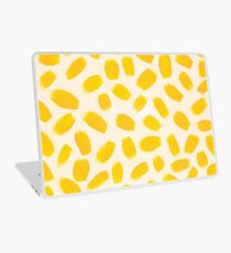 Yellow brush strokes Laptop Skin