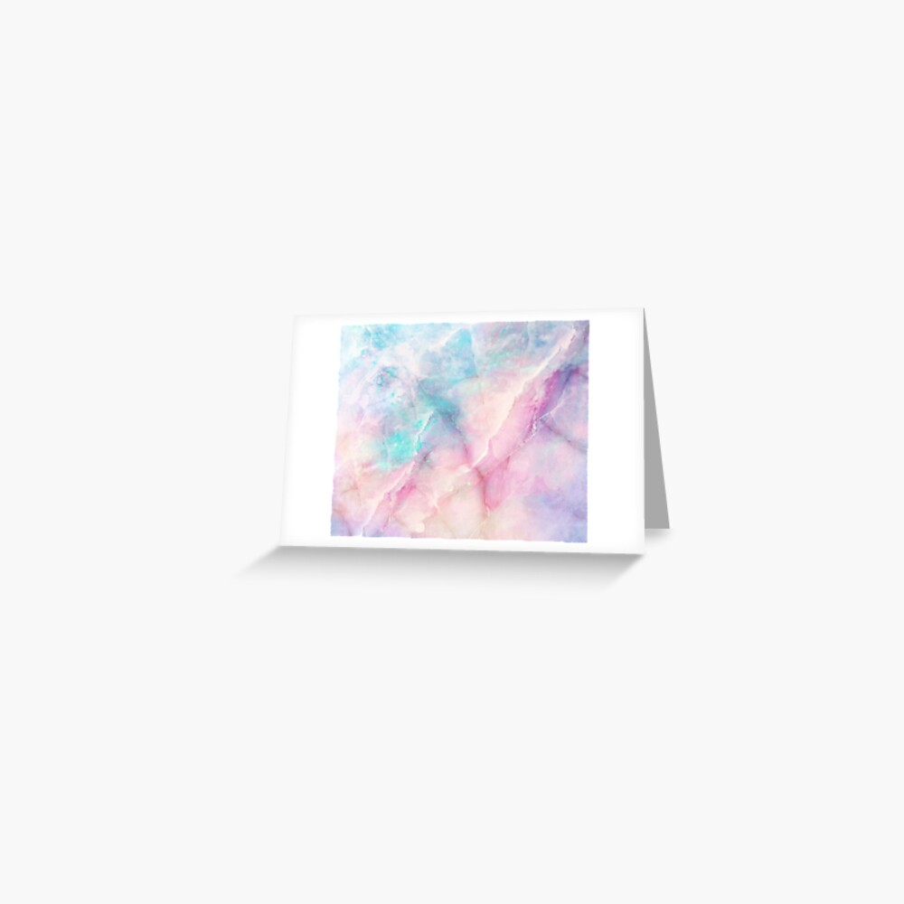 Iridescent Marble Greeting Card