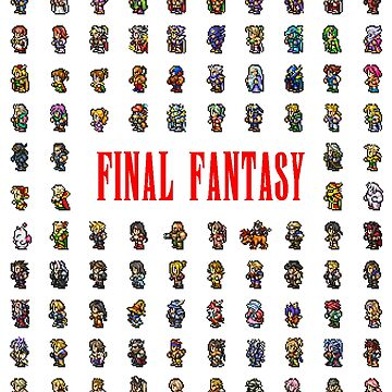 Final Fantasy Sprites through the ages by KewlZidane