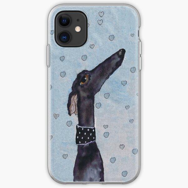 GREYHOUND LOVE g294heart iPhone Soft Case