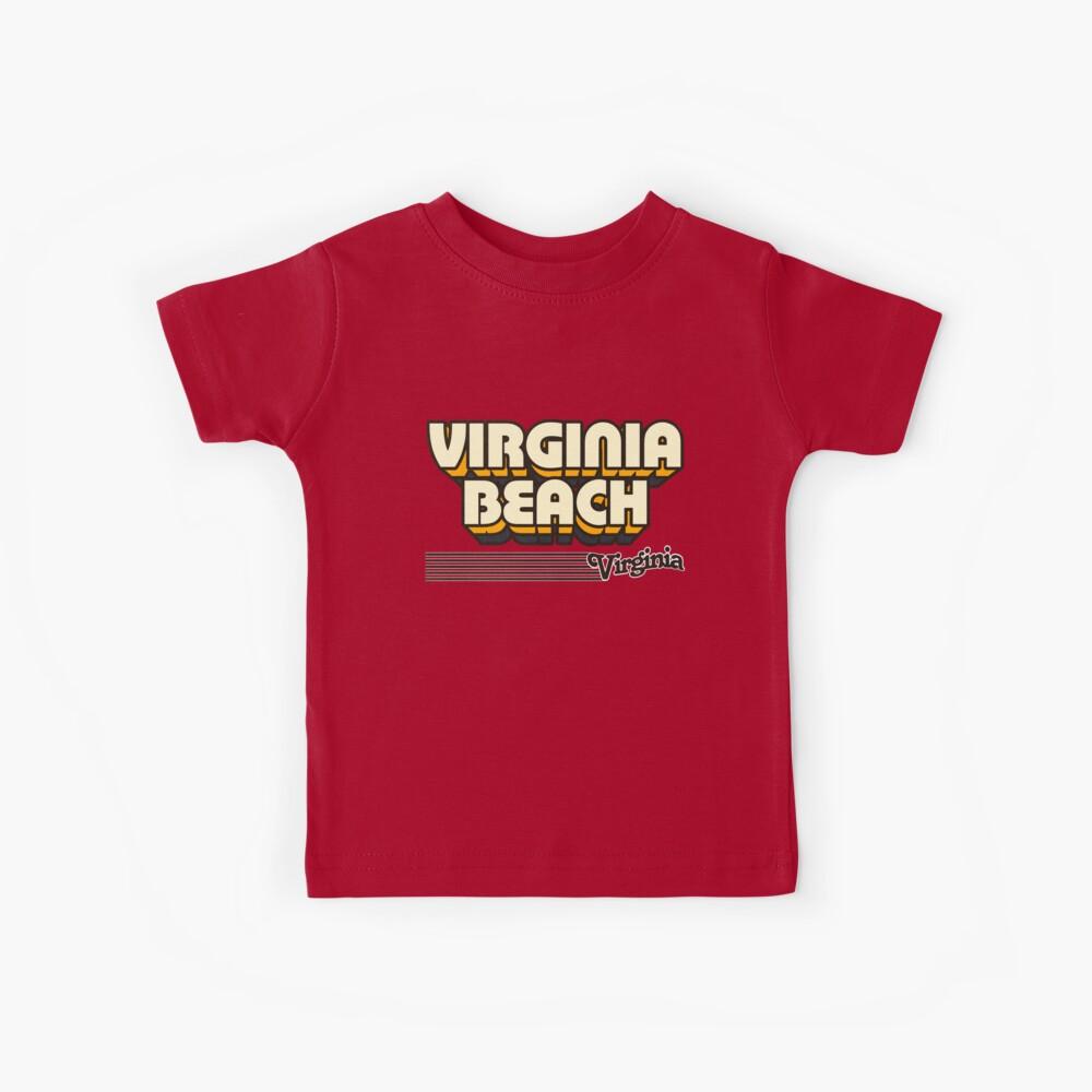 Virginia Beach, Virginia   Retro Stripes Kids T-Shirt