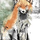 Fox painting by Extreme-Fantasy