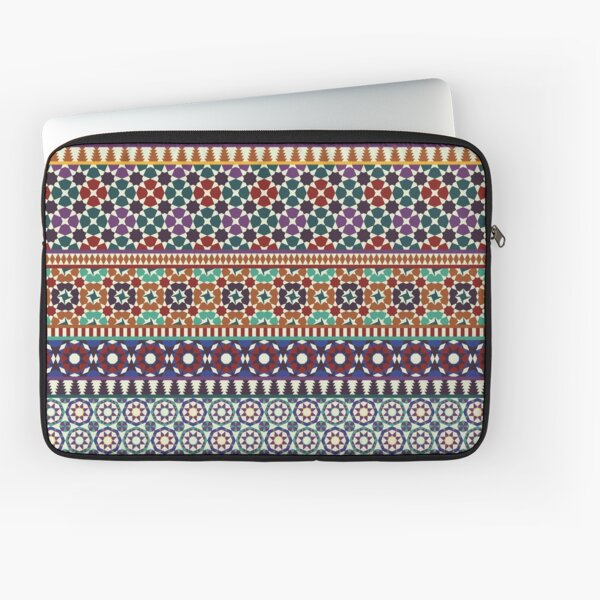Alhambra Tessellations - red, blue and purple Laptop Sleeve