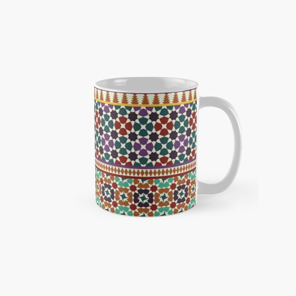 Alhambra Tessellations - red, blue and purple Classic Mug