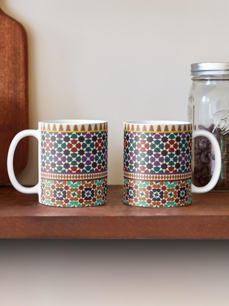 Alternate view of Alhambra Tessellations - red, blue and purple Mug