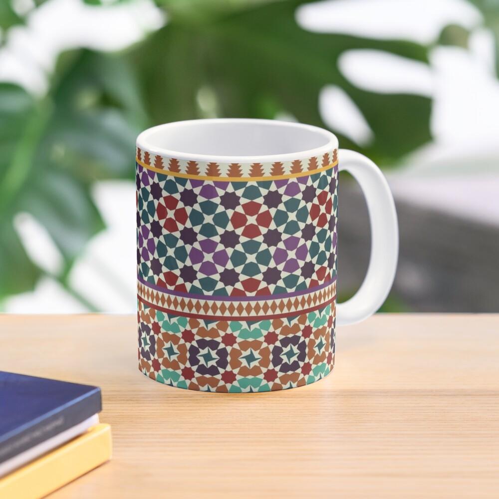 Alhambra Tessellations - red, blue and purple Mug