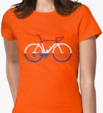 Bike Flag Netherlands (Big) Women's Fitted T-Shirt