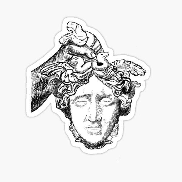 Tête de Méduse Sticker