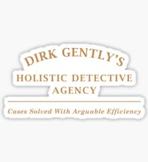 Dirk Gently Agency Sign Sticker
