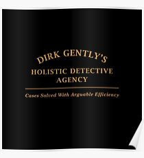 Dirk Gently Agency Sign Poster