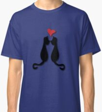Cats in love Tee Classic T-Shirt