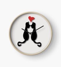 Cats in love Tee Clock