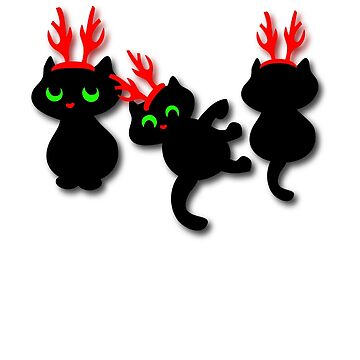 Christmas kittens Tee by patjila