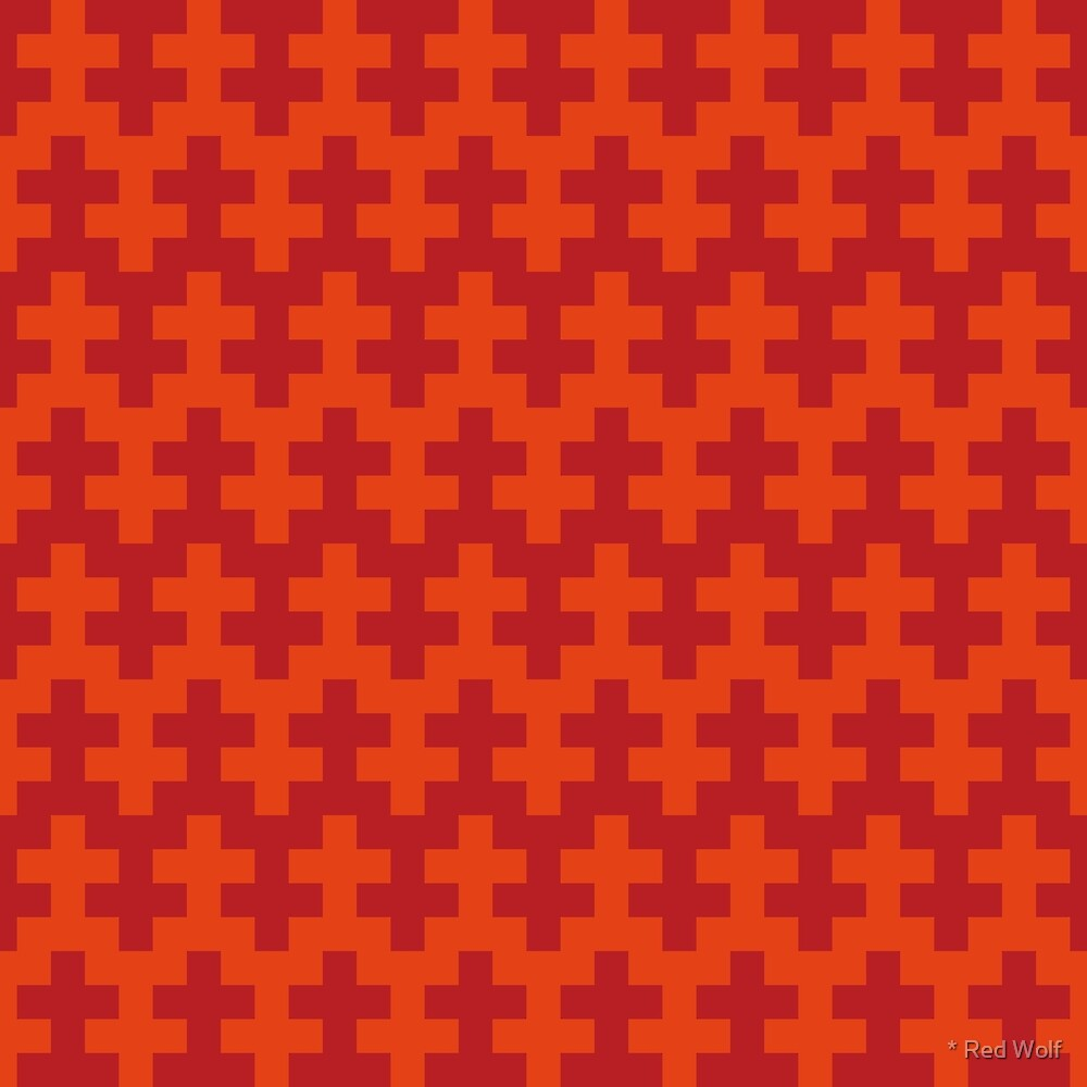 Geometric Pattern: Cross: Red by * Red Wolf