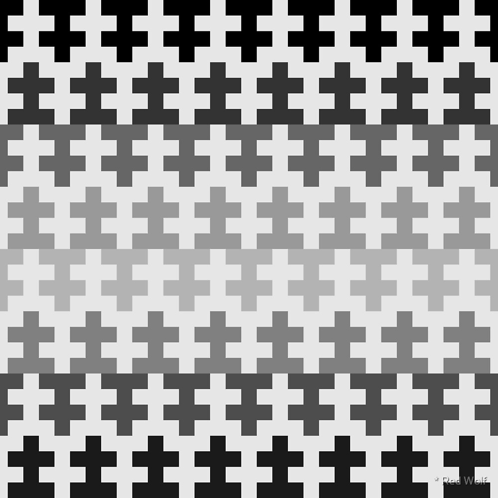 Geometric Pattern: Cross: Grey by * Red Wolf