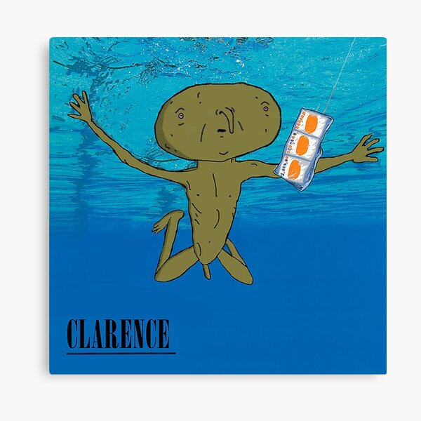 Clarence Nevermind Nirvana (PARODY) Canvas Print