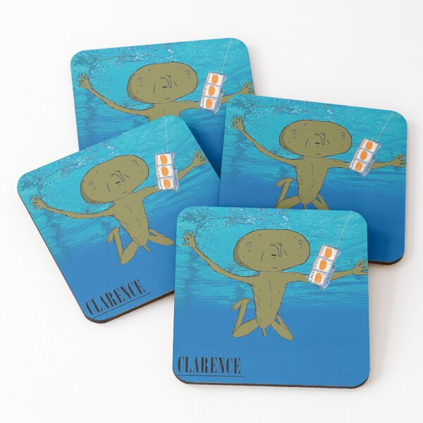 Clarence Nevermind Nirvana (PARODY) Coasters (Set of 4)