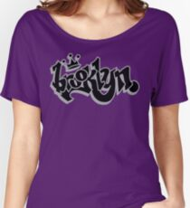 BROOKLYN GRAFF STYLE*BLACK/SILVER Women's Relaxed Fit T-Shirt