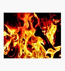Flames Aglow Photographic Print