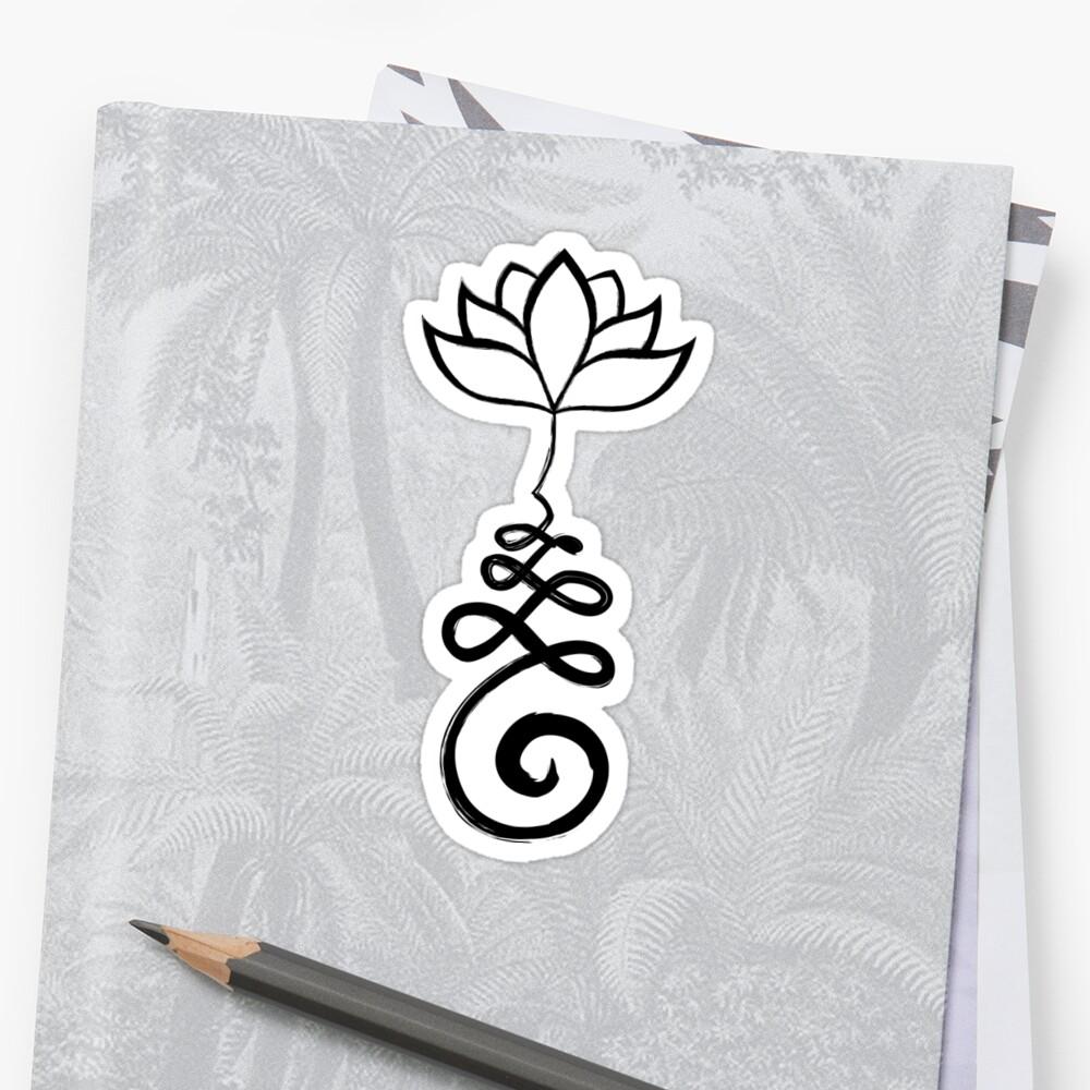 Unalome mit Lotus Sticker