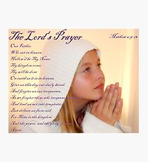 The Lord's Prayer Photographic Print