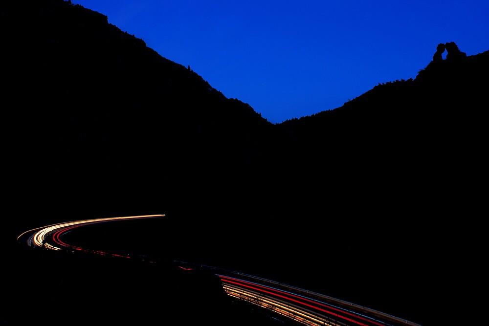 Bear Creek Canyon streaks by Paul Crossland