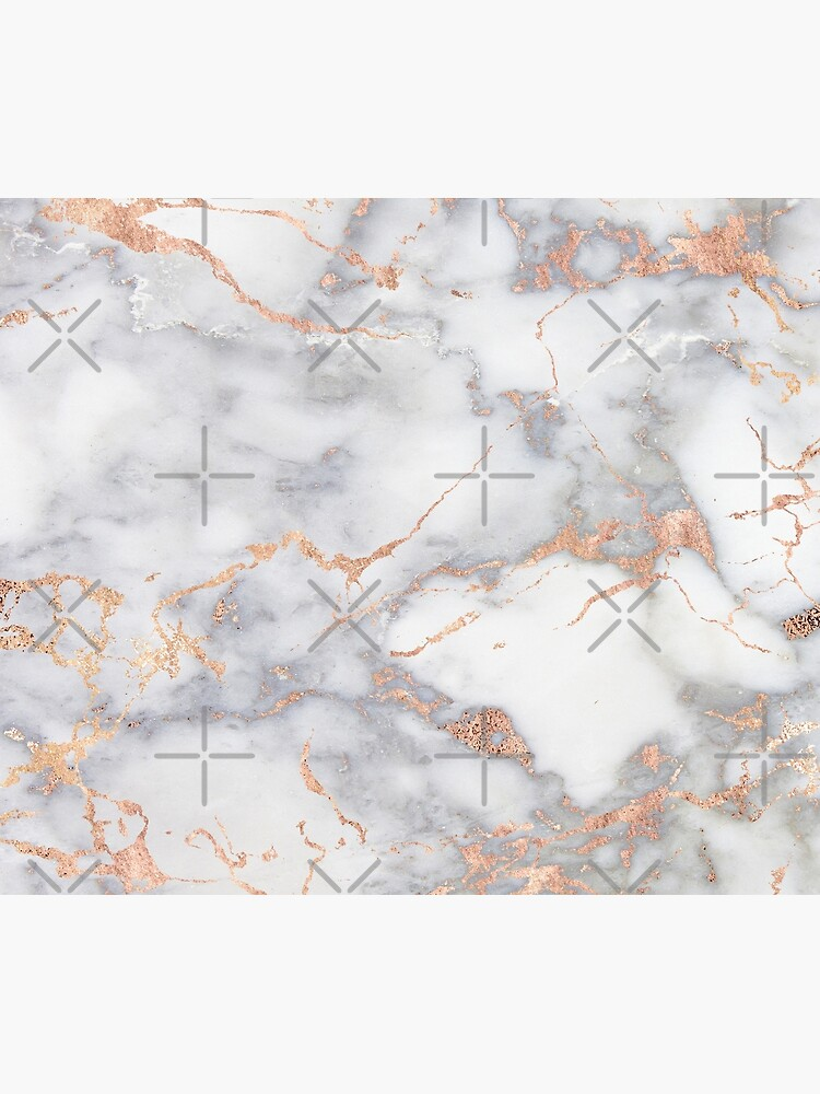 Rosegold Pink Sparkle Faux Marble by MysticMarble