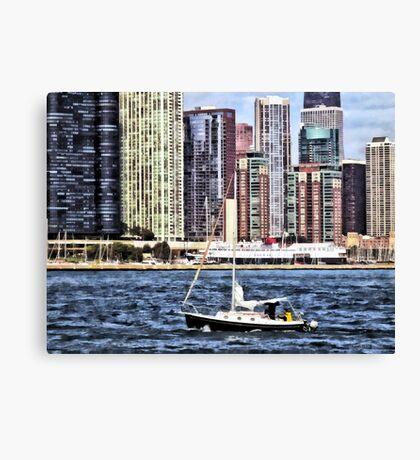 Chicago IL - Sailing on Lake Michigan Canvas Print