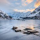 Hooker Lake Winter Sunrise by Alex Stojan